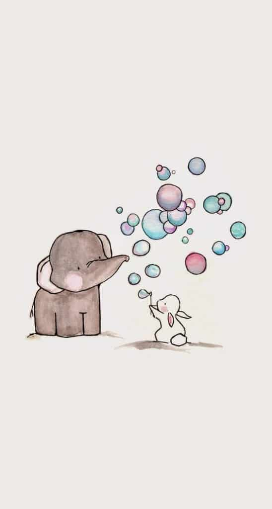 11 Soap Bubbles One Rabbit And His Elephant Friend Cute Drawings Cool Drawings Drawings