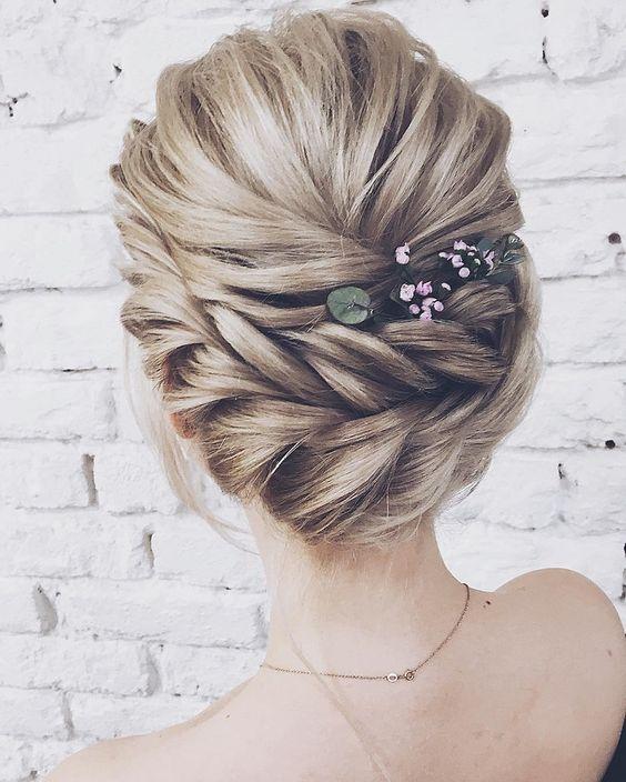 Updo wedding hairstyle , elegant bridal updo haistyle #weddinghairstyle #hairstyles #updstyle #updo