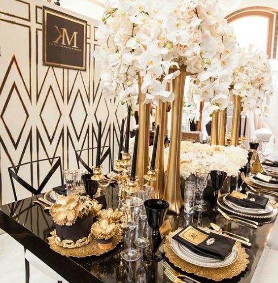 Gold Centerpieces Table Loris Decoration