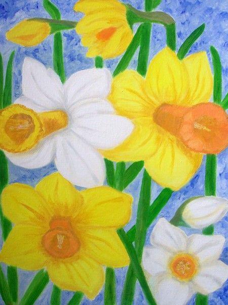 Spring flowers - Daffodils  by Elizabeth Janus