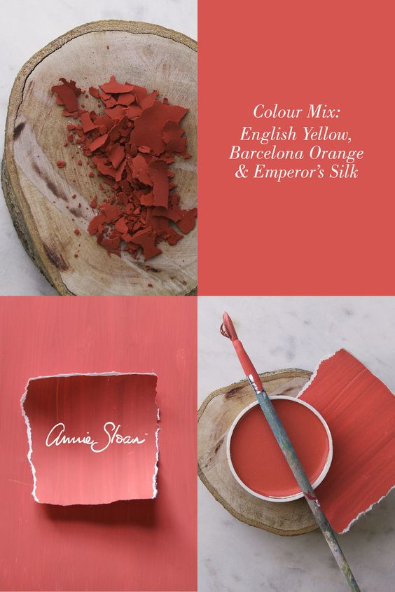 Warm and inviting coral chalk paint mix by Annie Sloan