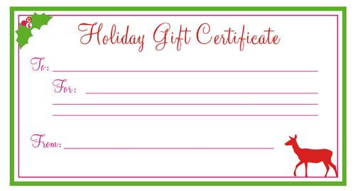 printable gift certificates Gift Certificate printables - coupon template for word