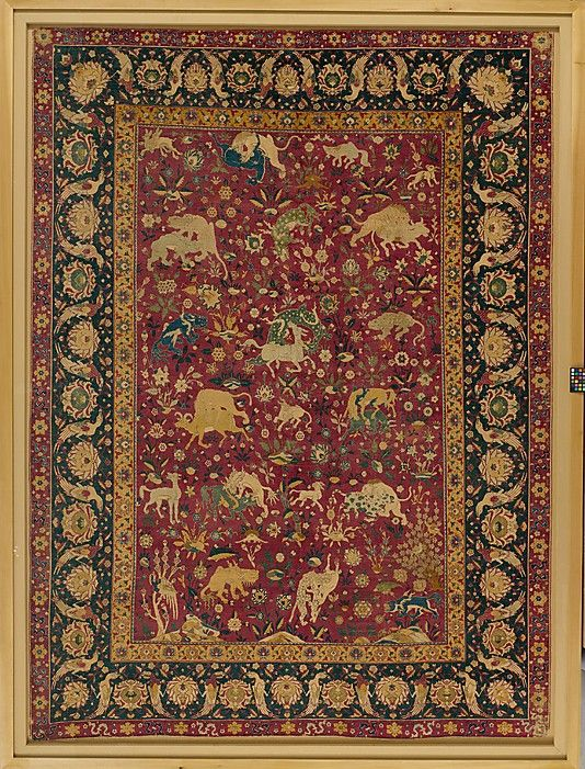 Silk Animal Carpet Object Name Date Second Half
