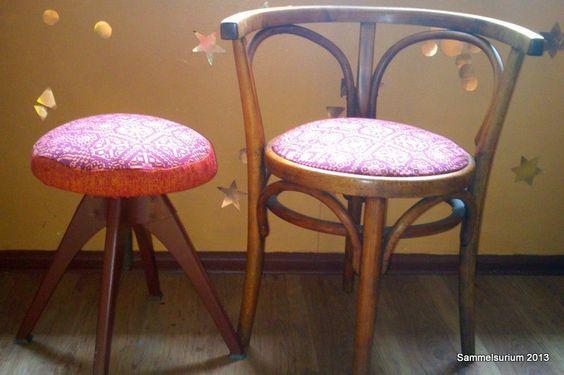 Hocker gepolstert upholster kitchenchair re do upholster