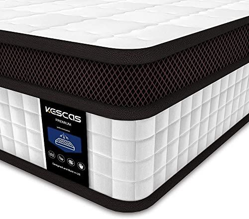 New Full Mattress Kescas 10 Inch Memory Foam Innerspring Hybrid Double Mattress Individually Wrapped Coils Innerspring Mattress Certipur Us Certified Medi In 2020 Double Mattress Full Mattress Hybrid Mattress