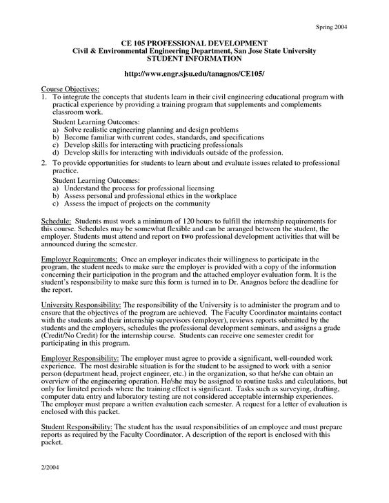 civil and environmental engineering internship cover letter - training assessment form