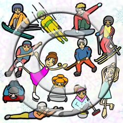 Winter Sports Competition clip art | Winter sport, For the and Art