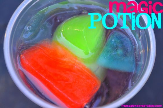 KoolAid ices cubes in sprite. The drink changes flavor as the ice melts! IM TOTALLY GOING TO DO THIS NOW!