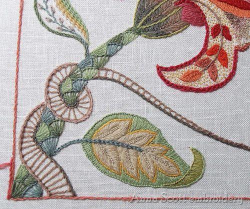 New Crewel piece | Stems | Anna Scott | Flickr