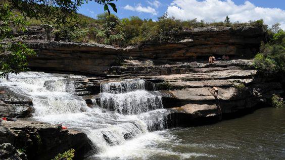 A leitora Luciana Ponciano de Andrade enviou foto da cachoeira Panelão, em Balsa Nova, Paraná.