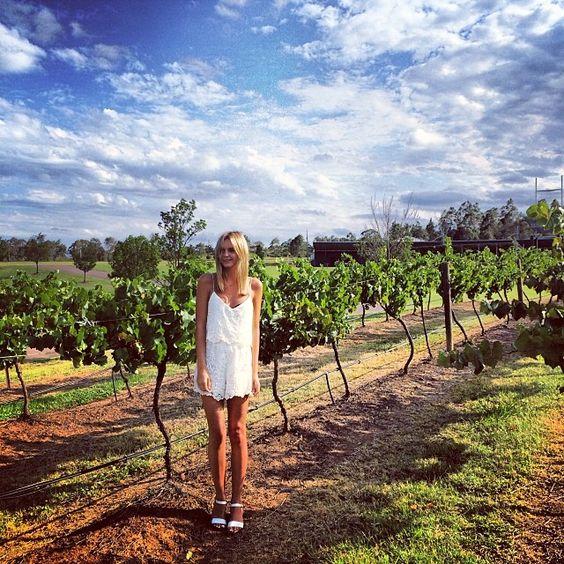 Walking through Tempus Two Vineyards  by tuulavintage