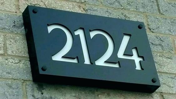 Best House Number Signs Solar House Number Signs Illuminated Address Numbers Solar Led House Numbers Modern House Numbers Sign House Numbers House Number Sign