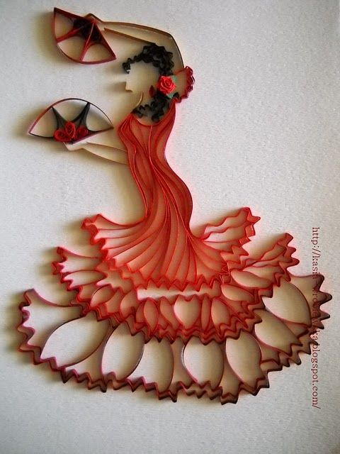 Quilled flamenco dancer: