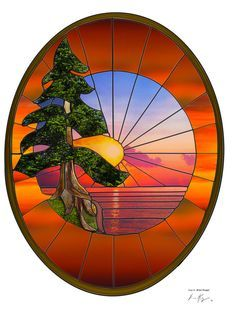 lake stained glass