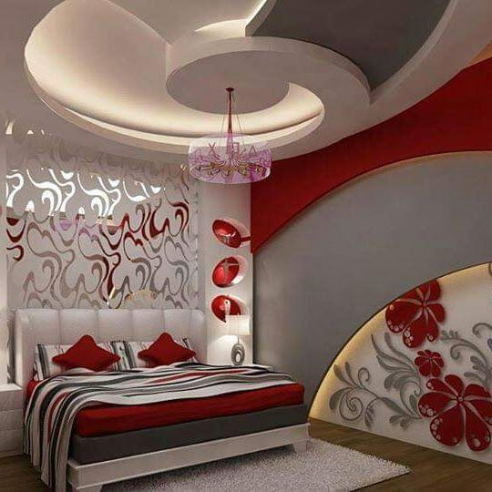 Fb Img 1547497167551 In 2021 Romantic Bedroom Decor Pop False Ceiling Design False Ceiling Design