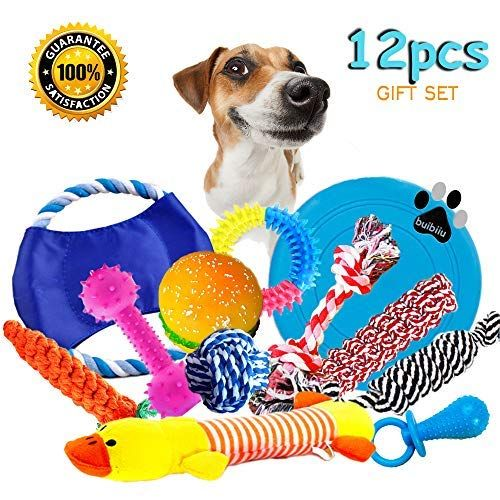 Buibiiu Dog Rope Toys Dog Teething Toys Best Chew Toys For Teething Puppy 12 Pcs Gift Set In 2020 Dog Teething Toys Best Dog Toys Puppy Chew Toys
