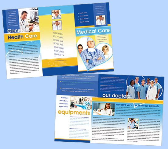 A brochure design that provides clients with essential facts and - medical brochures templates