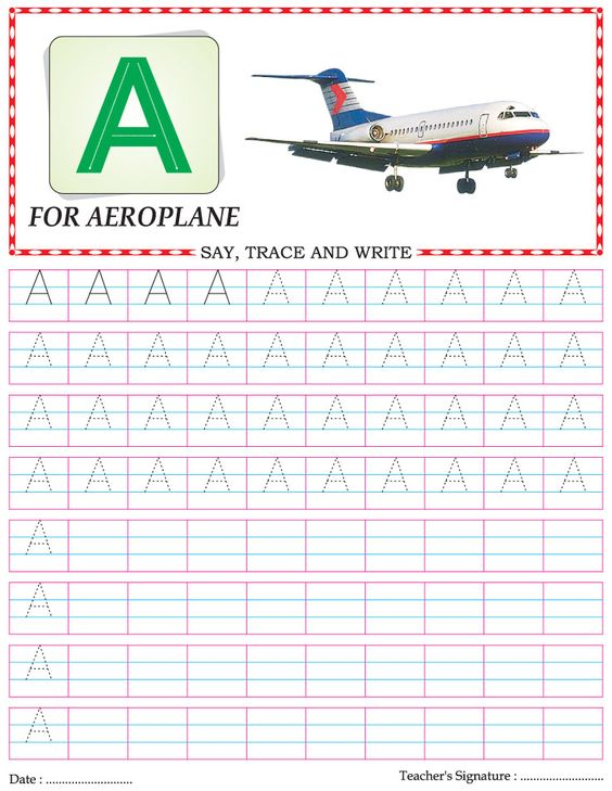 Capital letter writing practice worksheet alphabet A | Homeschool ...