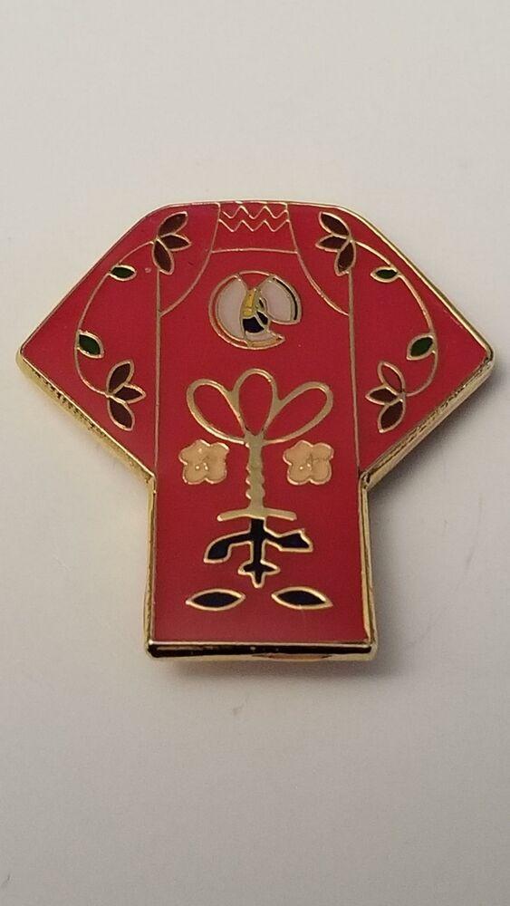 Kimono Floral Japanese Red Junk Journal Lapel Collar Pin 291 In 2021 Collar Pins Red Lapel Pin Lapel