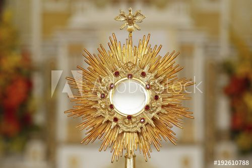 Ostensorial Adoration In The Catholic Church Comprar Esta Foto E