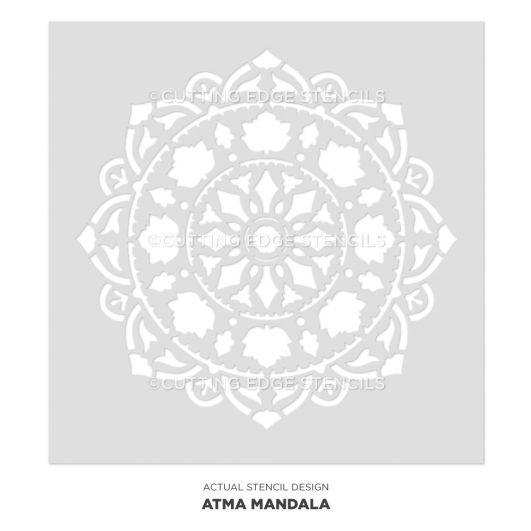 Mandala Stencils for Walls Furniture or Floors Wall Mandala Designs Better than Mandala Decals Large Stencils Mandala Stencil Atma