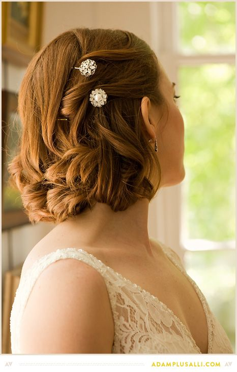 Pretty Wedding Day Hair Style