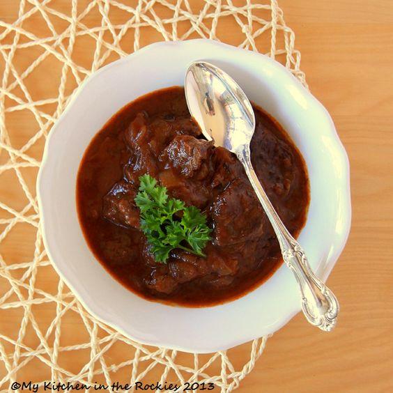 German Beef Goulash Colorado Denver Foodblog German recipes My Kitchen in the Rockies | A Denver, Colorado Food Blog