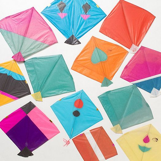 So fun to set up one of these little guys at the beach! - Terrain Paper Kite Set