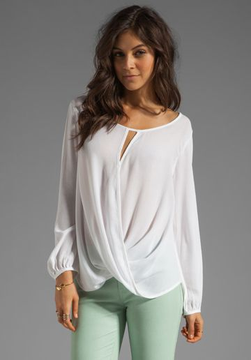 Ella Moss Stella Wrap Blouse | style. | Pinterest | Wrap blouse ...