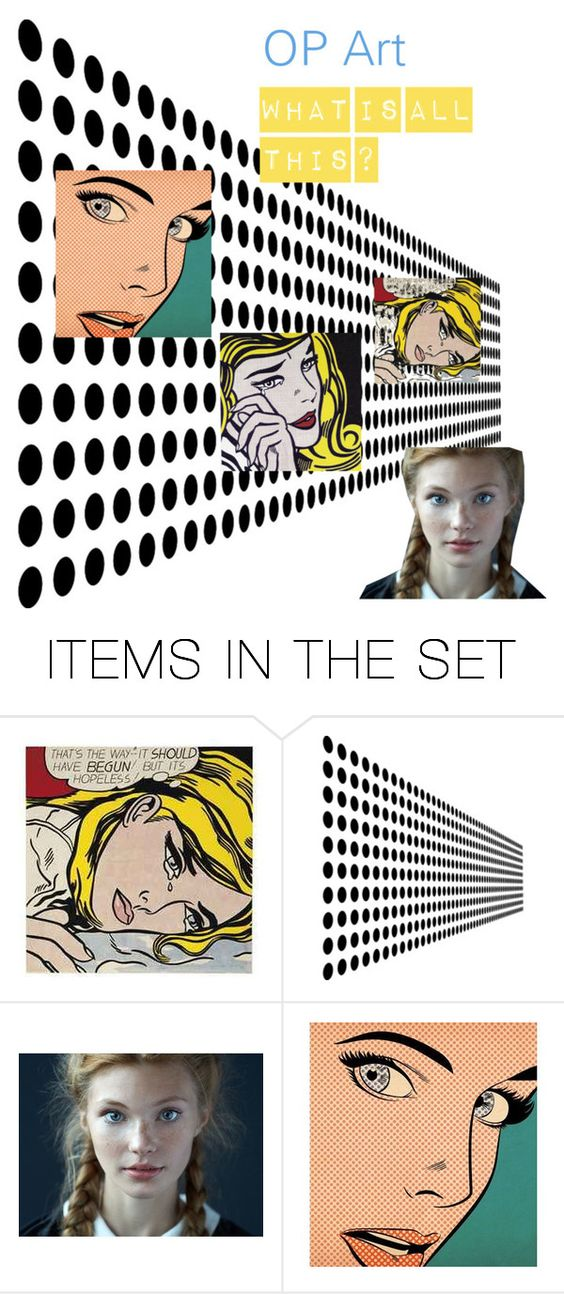 """op art"" by delta-dxcix ❤ liked on Polyvore featuring art"