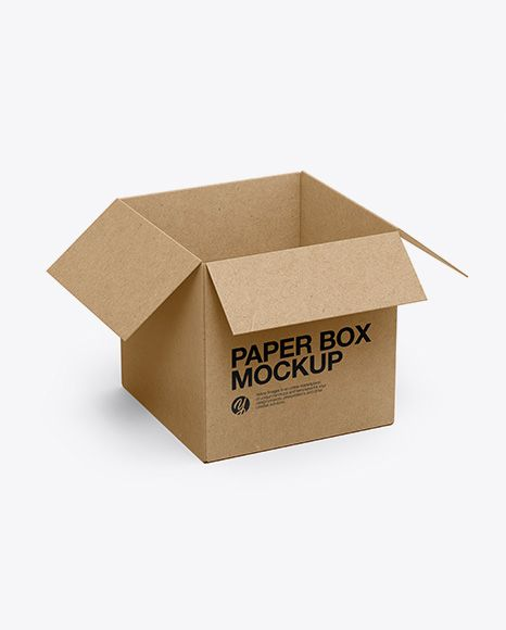 Download Opened Kraft Box Mockup Half Side View High Angle Shot In Box Mockups On Yellow Images Object Mockups Box Mockup Mockup Free Psd Free Psd Mockups Templates