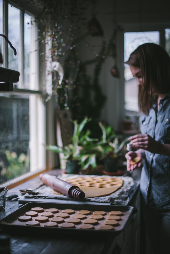 Pumpkin Shortbread cookies by Eva Kosmas Flores