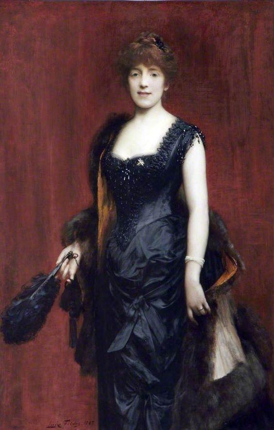 Fanny, Lady Fildes by Sir Luke Fildes, 1887