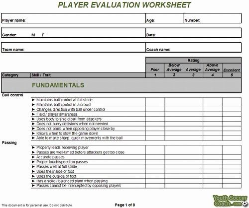 Basketball Tryout Form New Basic Soccer Skills For Beginners Evaluation Form Basketball Tryouts Soccer Drills For Kids