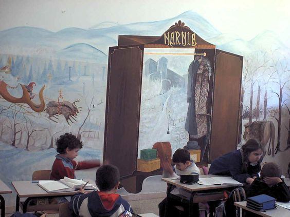 Classroom walls classroom and wall murals on pinterest for Classroom wall mural