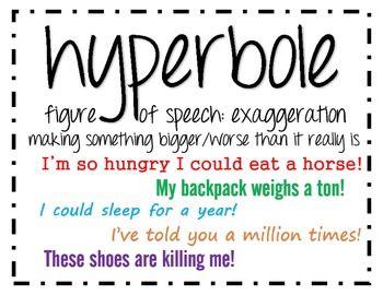 What Is A Hyperbole? Help Please :)?