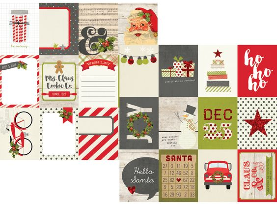 """Claus & Co 3x4"""" Journaling Card Elements"""