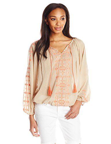 Lucky Brand Women's Embroidered Boho Top, Tan Multi, X-Large Lucky Brand http://www.amazon.com/dp/B00PY4TSFA/ref=cm_sw_r_pi_dp_DtBfwb12D5WDH