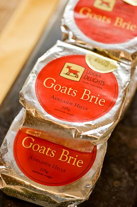 Udder Delights Goats Brie, tasty creamy little bries available at Caesars www.caesarscoffee.com.au