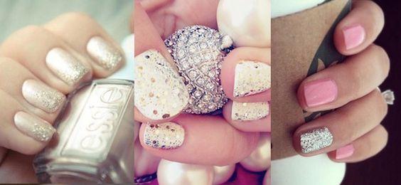 20 Blinged-Out Bridal Nails #nails