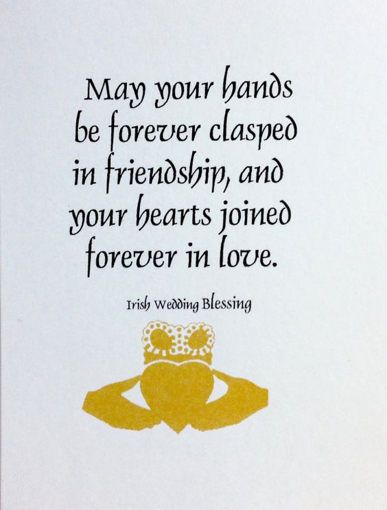 Irish wedding Blessing by GirlzGoodz on Etsy