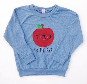 apple of my eye sweatshirt for kids