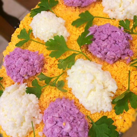 With Tijana;) - 8件のもぐもぐ - Jorgovan torta;) Lilac Savoury Cake;)) by aястасия