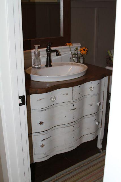 Bathroom Vanity From Dresser I Like The Raised Sink For The Home Pinterest I Love