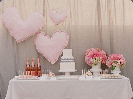 Stuffed Hearts Dessert Table