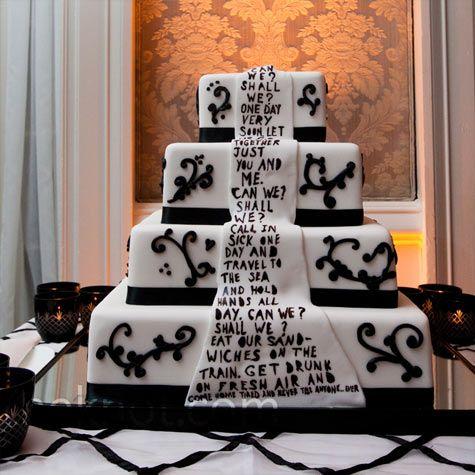 Wedding White Wedding Decorated Poem Cake Decorated Cake Let Eat Cake