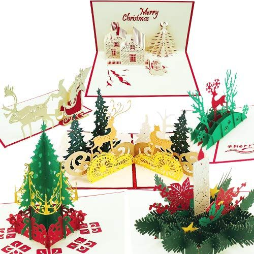 Hallmark Christmas Boxed Cards Bringing Home The Tree 16 Cards And 17 Envelopes Mery Christmas 3d Christmas Cards Xmas Greeting Cards Pop Up Greeting Cards