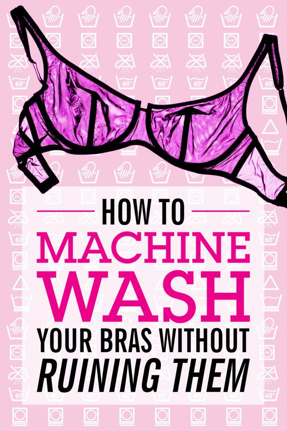 HOW TO WASH YOUR BRAS: Who has time to hand-wash? Basically, no one. If you're going to wash your bras in a machine, use this guide to do it the best and safest way possible. Click through to learn 6 easy ideas to get your bras clean without destroying them.