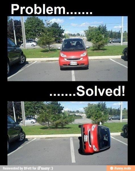 Smart car being and ass!