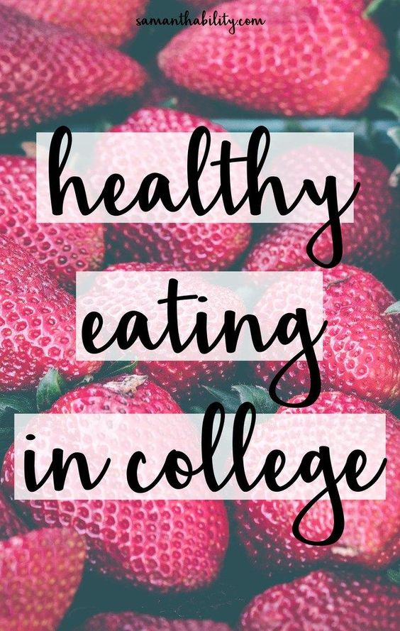 how to eat healthy and lose weight in college